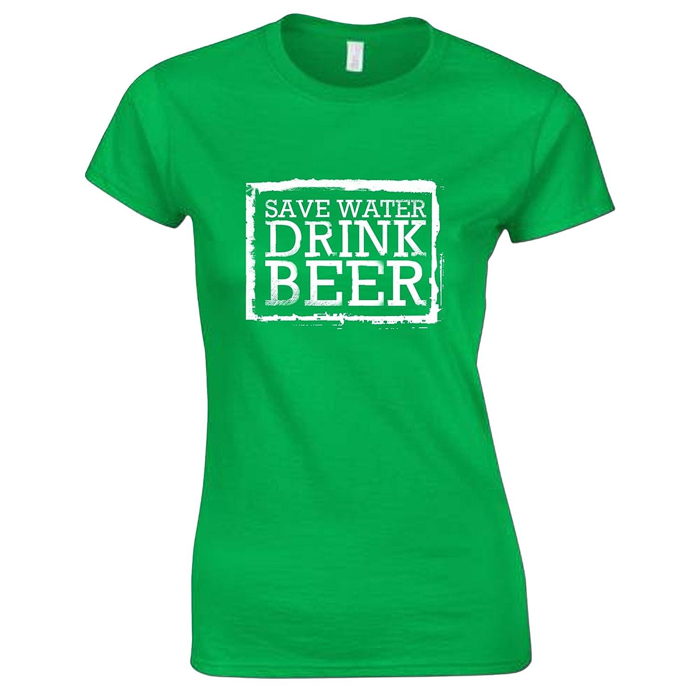 Damen Spar Wasser, Trink Bier St Patrick's Day T-Shirt: Amazon.de:  Bekleidung