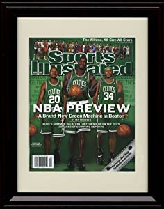 Framed Kevin Garnett Sports Illustrated Autograph Replica Print - 2008 Boston Celtics Big 3
