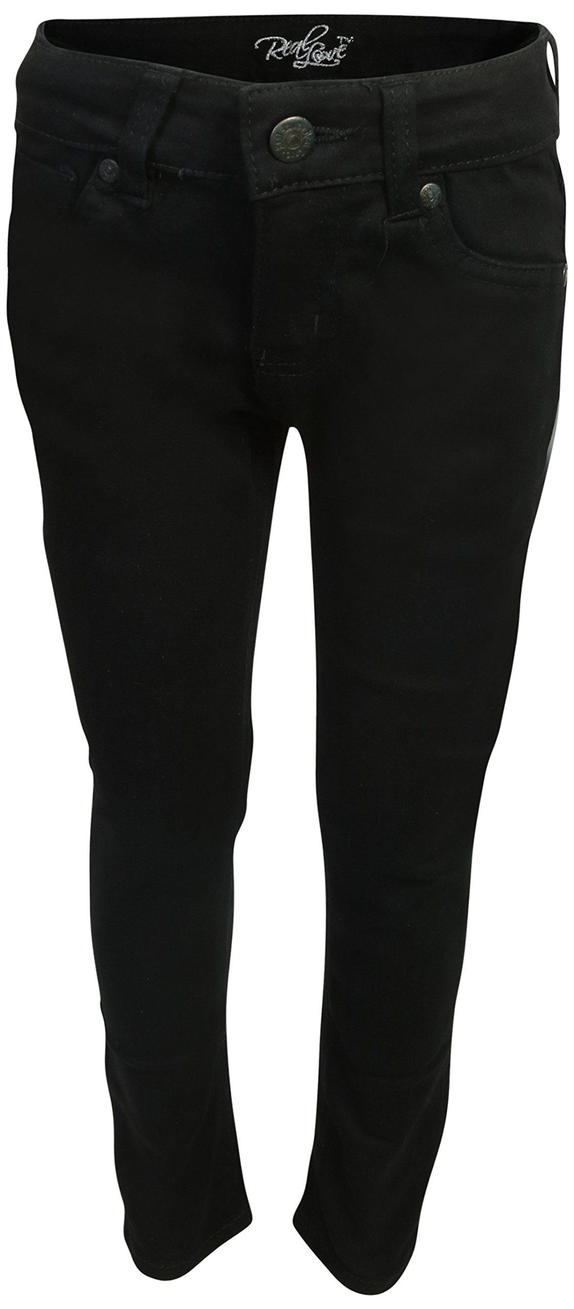 Real Love Girls Skinny Jeans, Black & Blue (2 Pack) Size 6 by Real Love (Image #2)