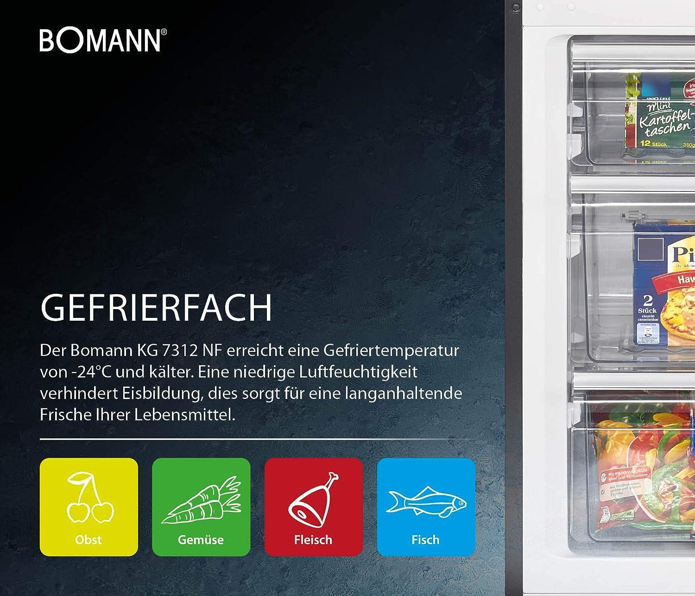 Bomann KG 7312 - Refrigerador/congelador (A++, 184 cm, 242 kWh/año ...