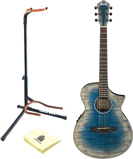 Ibanez aewc32fm Thinline Electroacústica guitarra en ráfaga de ...