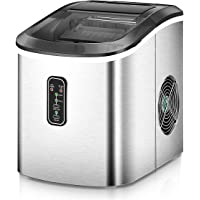 Euhomy Ice Maker Machine Countertop, Makes 26 lbs Ice in 24 hrs-Ice Cubes Ready in 8 Mins, Compact&Lightweight Ice Maker…
