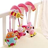 Happy Cherry Espiral de Actividades Sonajero Musical con Sonidos Música Colgante Multicolor Insectos para Bebés Recién Nacidos Niños Carrito Cochecito Cuna