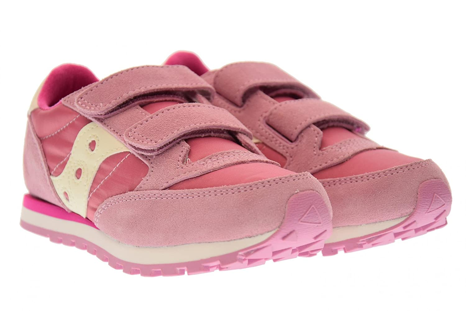 SAUCONY SC56452 JAZZ DBLE HL fuchsia pink baby girls ripping shoes:  Amazon.co.uk: Shoes & Bags