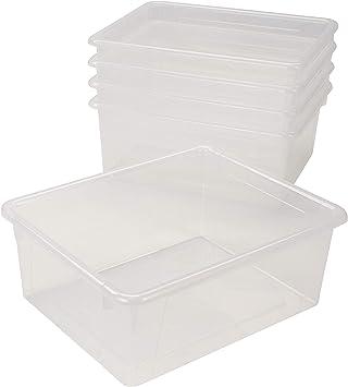 10 x 13 x 5 Inches White Storex Deep Storage Tray Letter Size