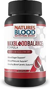 Max Blood Balance Formula - Blood Sugar & Blood Pressure Support - Natural Anti-Inflammatory and Antioxidant Formula - Max Blood Balance Formula Pills - Max Blood Balance Formula Supplements