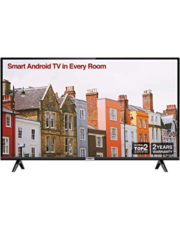 TCL 32ES568 32 Inch HD Smart Android TV, HDR, Micro Dimming, Netflix, YouTube, DVB Compatible, Dolby Audio, Bluetooth, Wi-Fi, 2 x HDMI, 1 x USB, Narrow Design for Kitchen, Bedroom-Black [Energy Class A+]