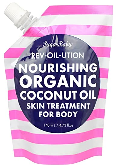 SugarBaby Rev Oil Ution Nourishing Coconut Oil Treatment for Face, Body and  Hair, 4 73 Fl  Ounce