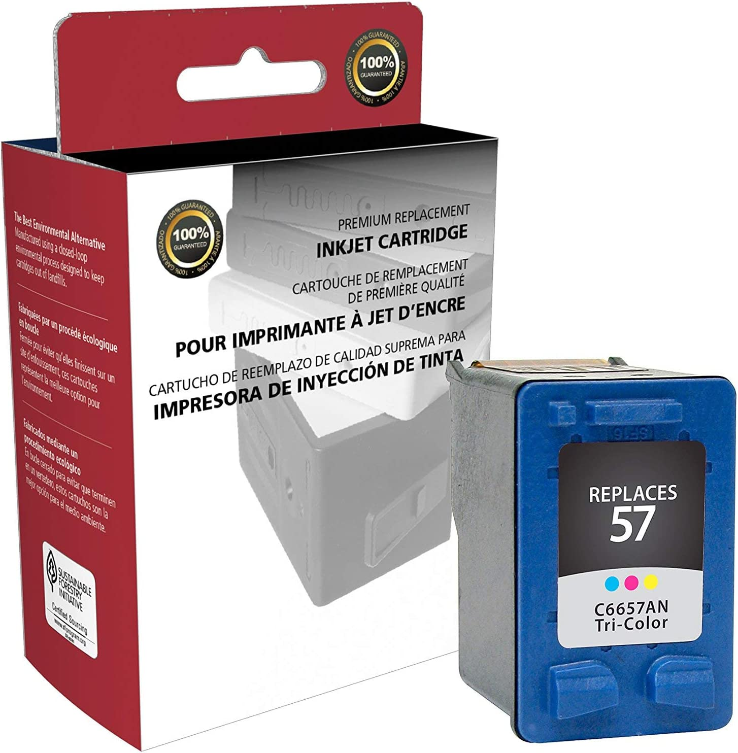 Inksters Remanufactured Ink Cartridge Replacement for HP 57Tri-Color C6657AN (HP 57)
