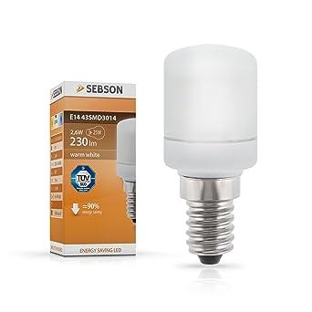 SEBSON E14 43SMD3014 Bombilla SMD LED, E14, 160º Haz de luz, 230V AC