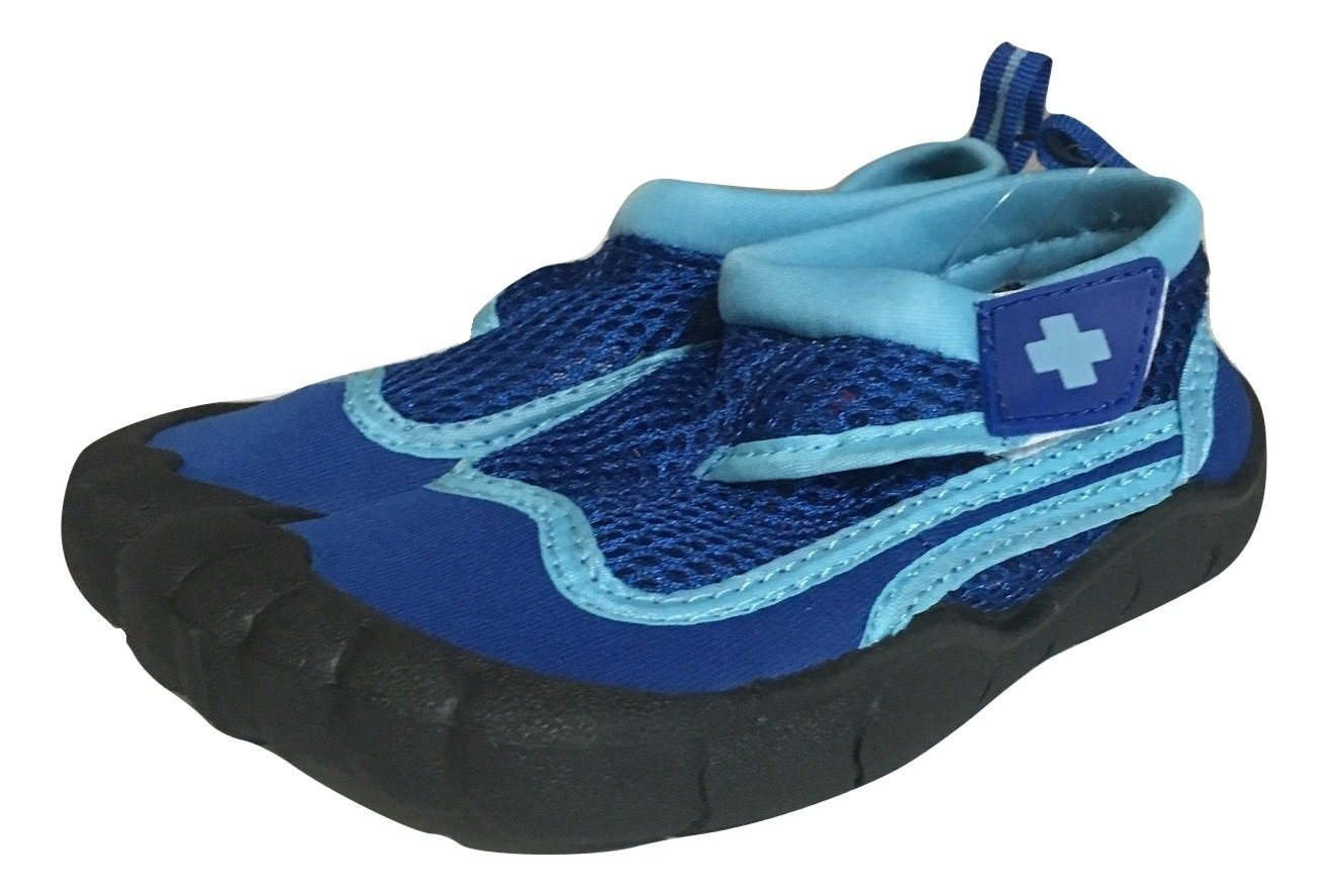 Toddler Activity Shoe, Water Shoe, Aqua Shoe, Grip Socks, Outdoor shoe, Lifeguard Brand (09/10 L, Blue/ Light Blue)