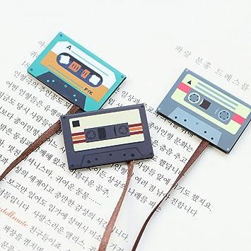 Runrain - Cinta de cassette de papel de cola larga, magnética, marcapáginas, libros, papelería, regalo para niños: Amazon.es: Oficina y papelería