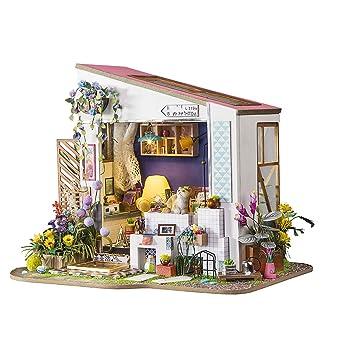 Amazon Com Yamix Diy Miniature Dollhouse Kits Porch Assembled