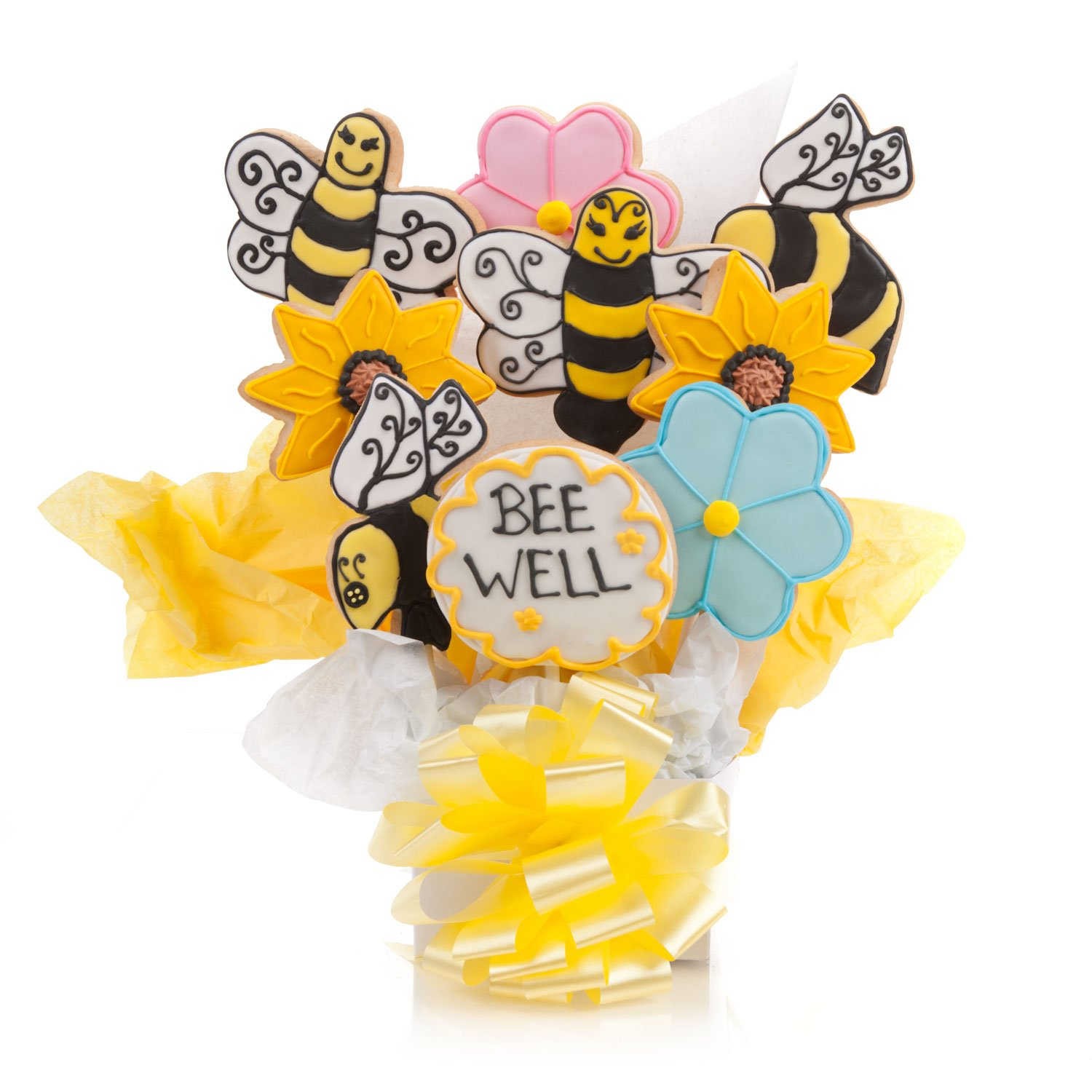 Bee Well Cookie Bouquet- 9 Pc Bouquet