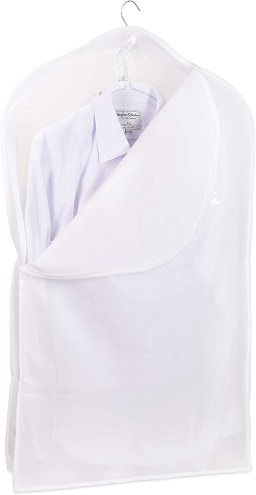 Hoesh - Funda Protectora para Camisa (Transpirable, 96,52 cm), Color Blanco: Amazon.es: Hogar