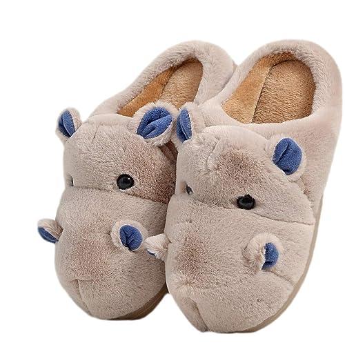 online retailer d27e2 f6c15 LANFIRE Morbide Pantofole Animali sfocate Pantofole ...