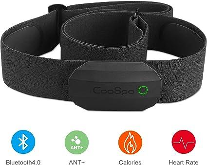 CooSpo Frecuencia Cardíaca Bluetooth Banda Monitor Sensor de Frecuencia Cardíaca Deportivo Ant+ para Garmin Wahoo Suunto Polar UA Run: Amazon.es: Deportes y aire libre