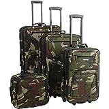 Rockland Journey Softside Upright Luggage Set, Camouflage, 4-Piece (14/19/24/28)