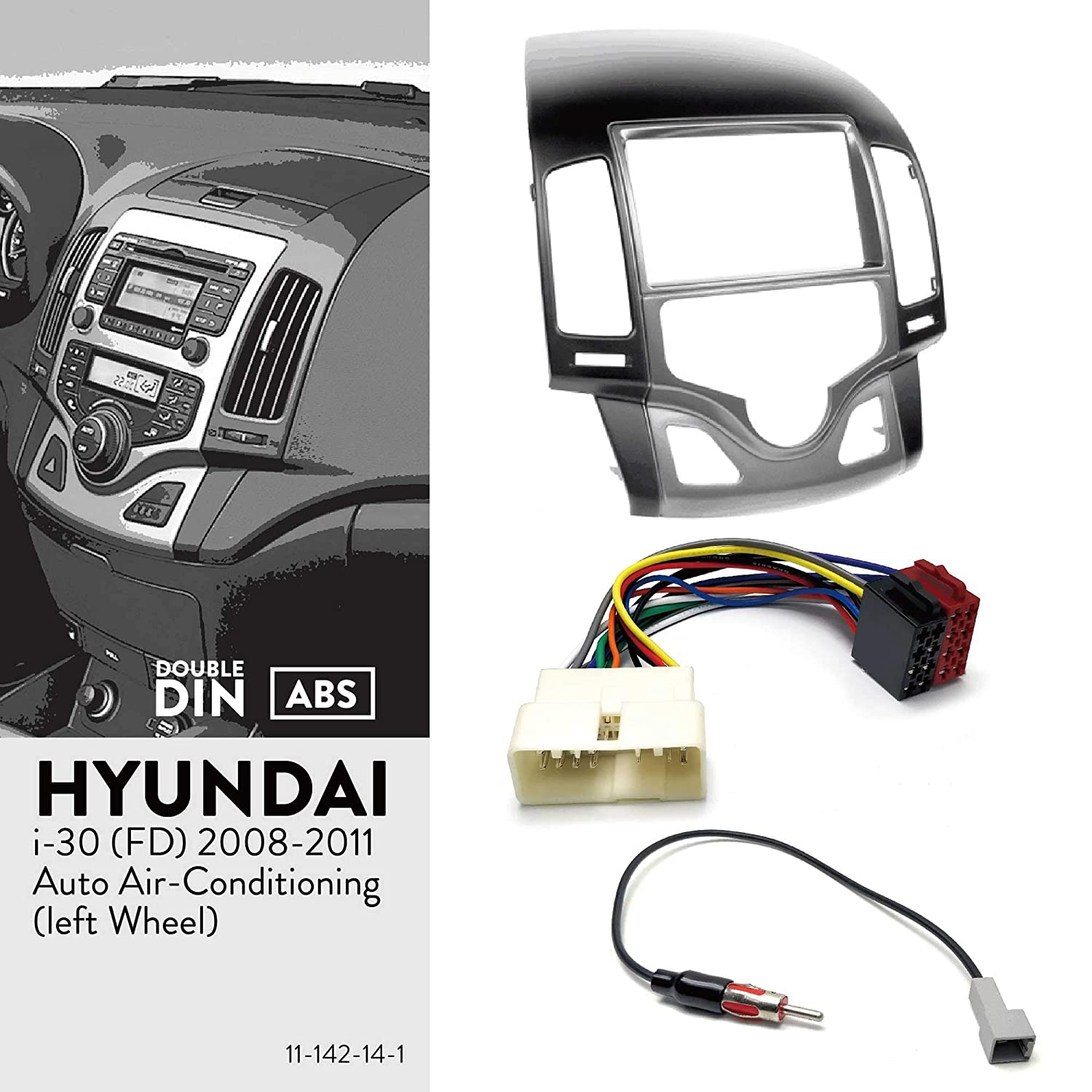 FD ISO Harness Antenna Adaptor for Hyundai i-30 2008-2011 UGAR 11-142 Fascia Kit