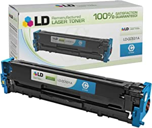 LD Remanufactured Toner Cartridge Replacement for HP 304A CC531A (Cyan)