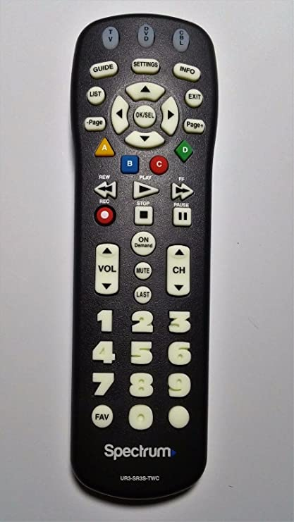 Spectrum TV Remote Control 3 Types To Choose FromBackwards compatible with  Time Warner, Brighthouse and Charter cable boxes (Pack of Two, UR3-SR3S)