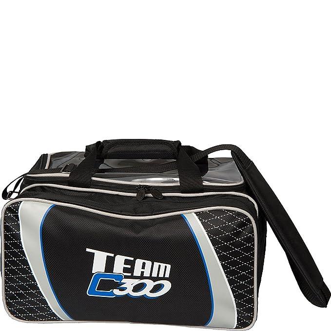 Columbia 300 Team Columbia Slim Triple Roller 3 Ball Bowling Bag Black//Silver