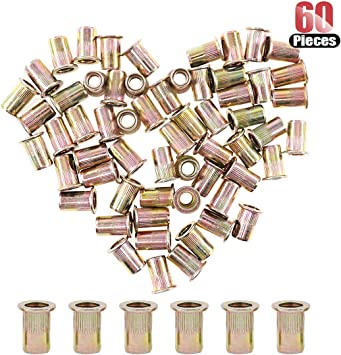 5//16-18 UNC Rivnut Hilitchi 60 Pcs 5//16-18 UNC Rivet Nuts Threaded Insert Nut