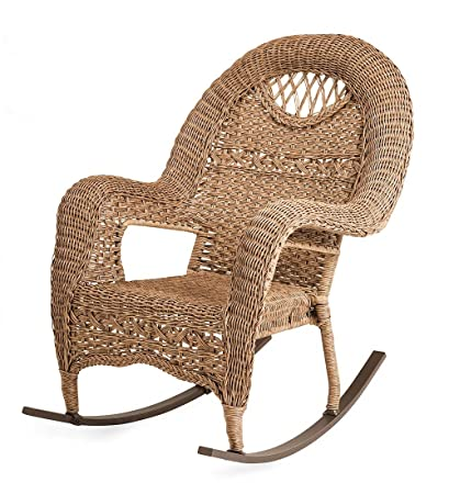 Strange Amazon Com Prospect Hill Wicker Rocker Driftwood Garden Gmtry Best Dining Table And Chair Ideas Images Gmtryco