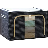 Oxford Cloth Steel Frame Storage Box for Clothes Bed Sheets Blanket Pillow Shoe Holder Container Organizer