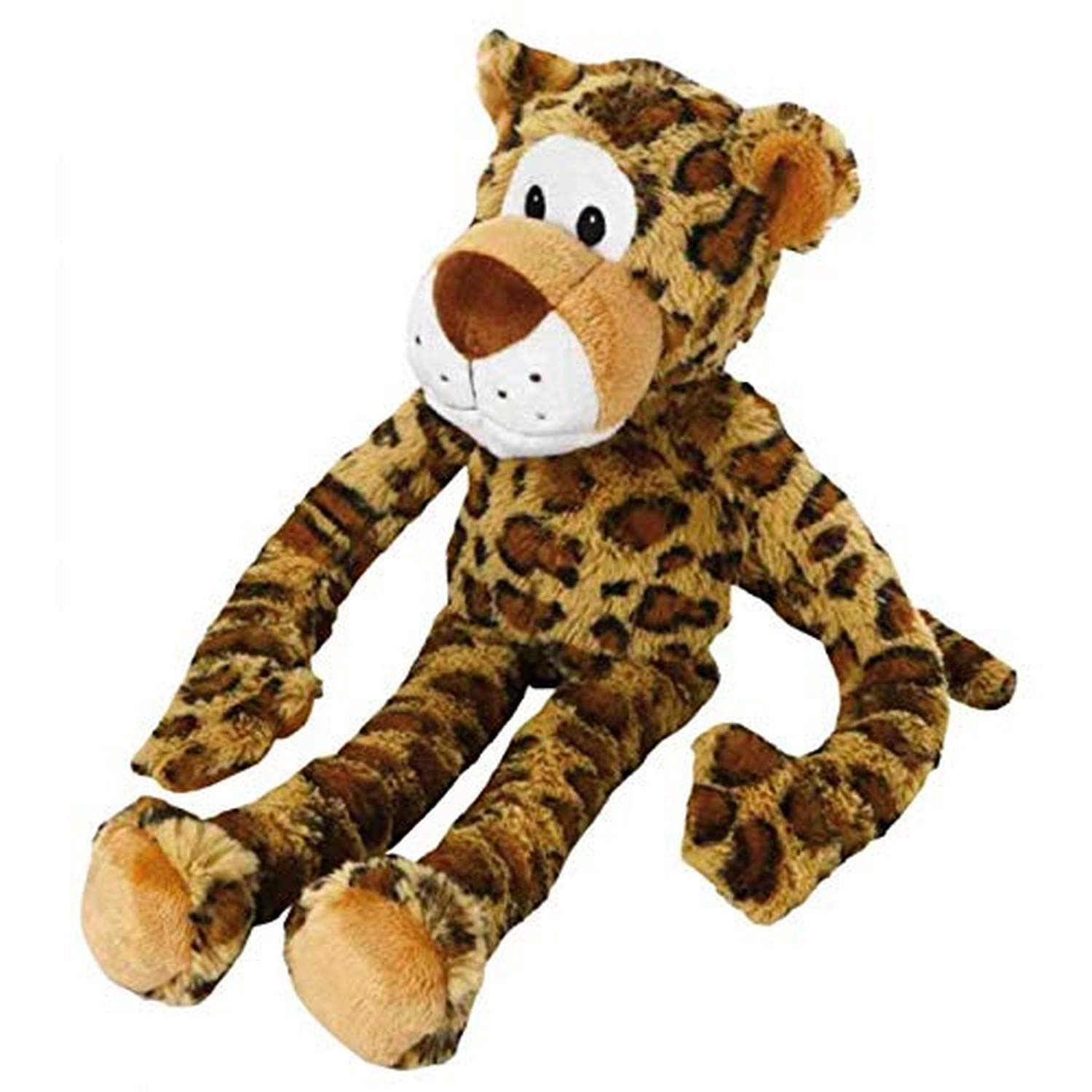 Multipet Swingin 19-Inch Large Plush Dog Toy with Extra Long Arms and Legs with Squeakers