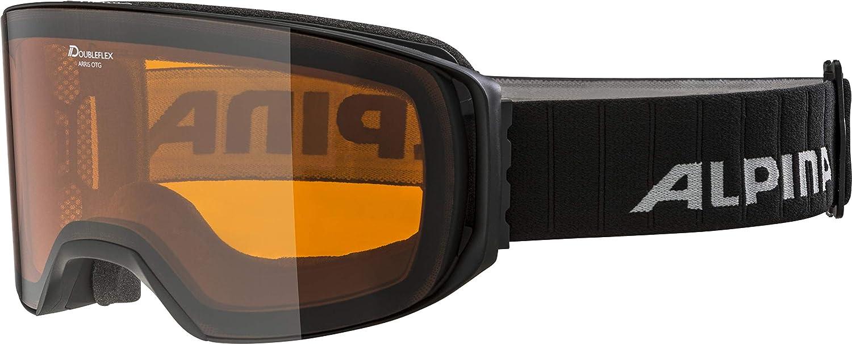 Noir Taille unique ALPINA Arris Masque de Ski Unisexe