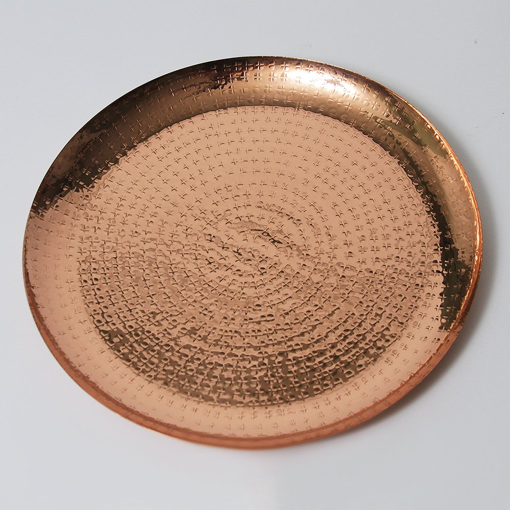 Copper Metallic 13 inch Decorative Charger Plate by Alchemade