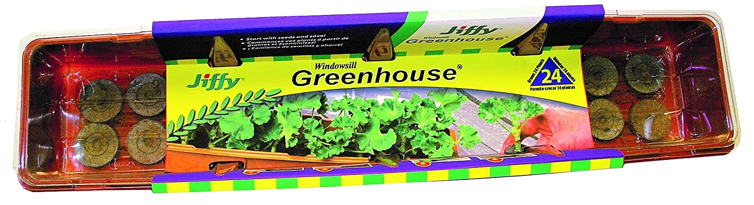 Amazon.com : Jiffy 36mm Windowsill Greenhouse 24 Plant Starter Kit : Indoor  Herb Garden Kits : Garden U0026 Outdoor
