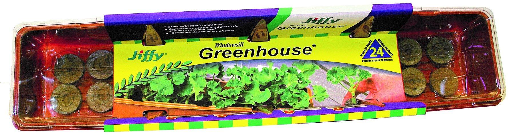 Jiffy 36mm Windowsill Greenhouse 24-Plant Starter Kit