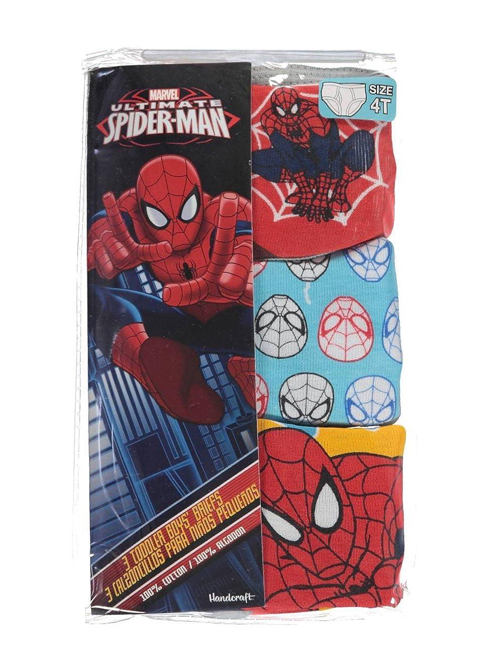 Spider-Man Little Boys' Toddler Web Head 3-Pack Briefs
