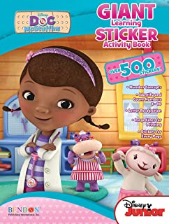 bendon publishing doc mcstuffins giant learning sticker activity book - Doc Mcstuffins Coloring Book