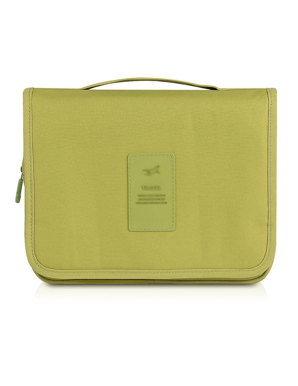 Plambag Hanging Travel Toiletry Organizer Bag Bathroom Cosmetic Bag Shaving Kit Green Hardware