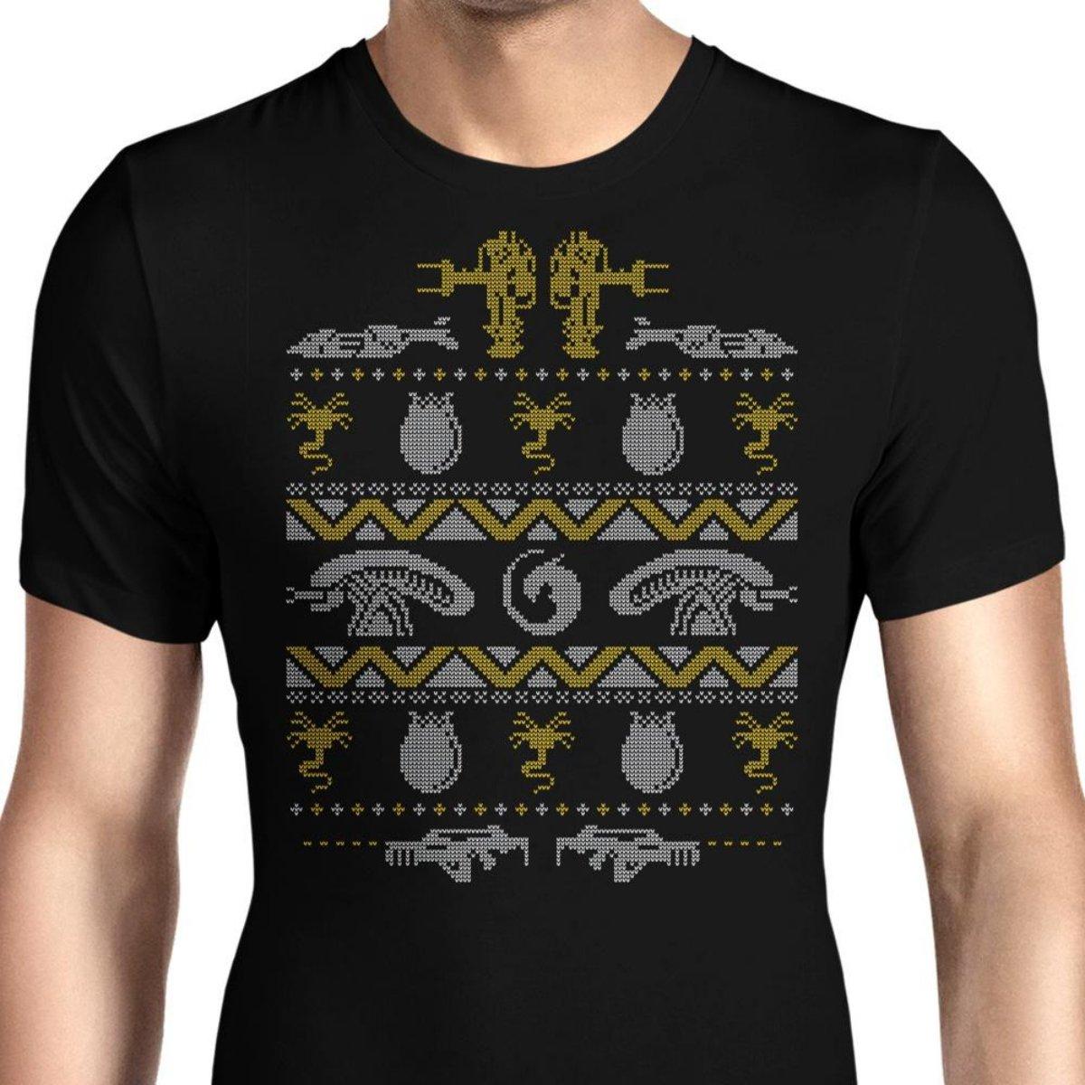 HONGRONG Mens Xmas Bug Hunt Unique Design Tshirt Fashion Tee