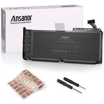 """Ansanor® 6000mAh batería del ordenador portátil súper capacidad de Apple MacBook Unibody 13"""" A1331"""