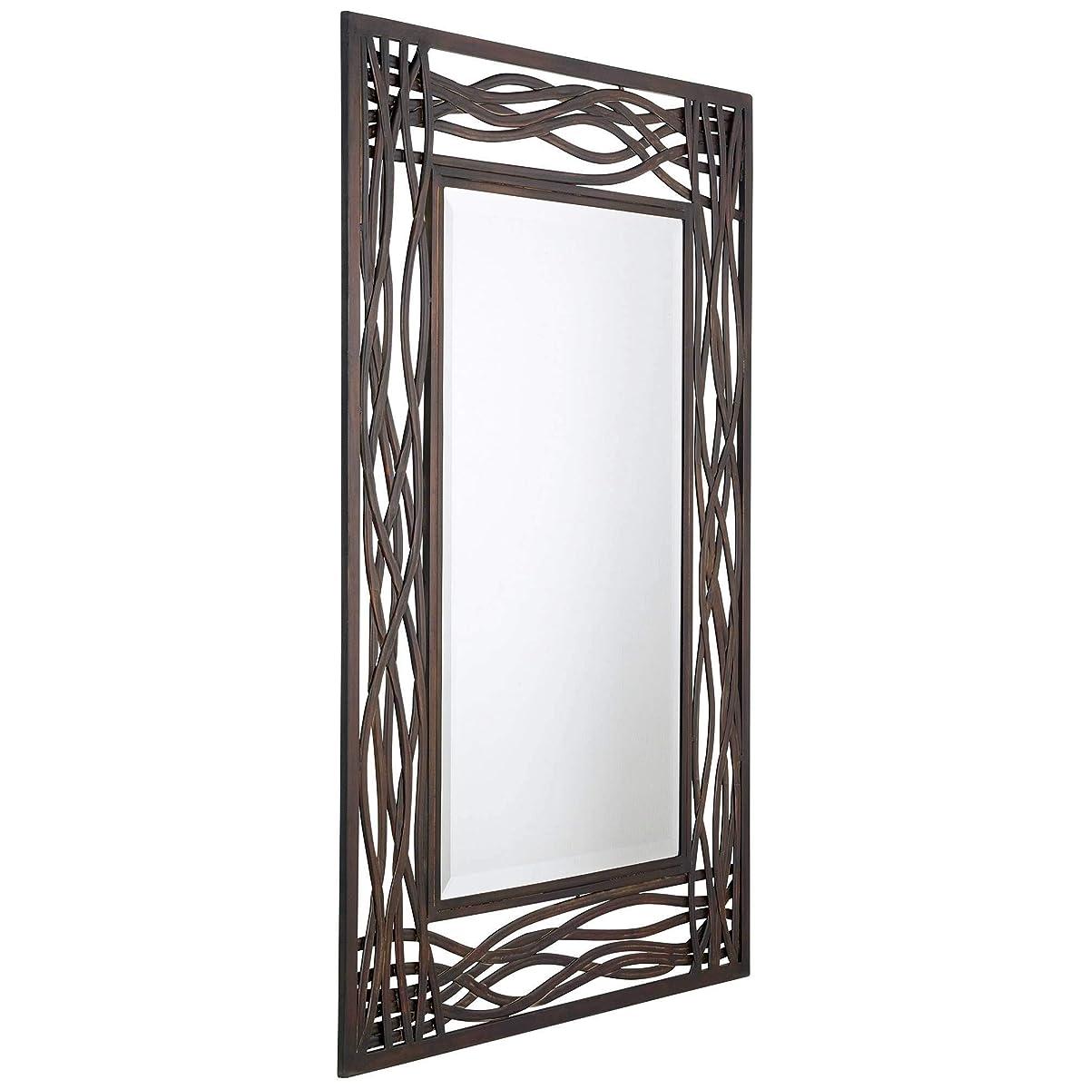 """Uttermost Dorigrass Mirror 0.5 x 32 x 42"""", Mocha Brown"""