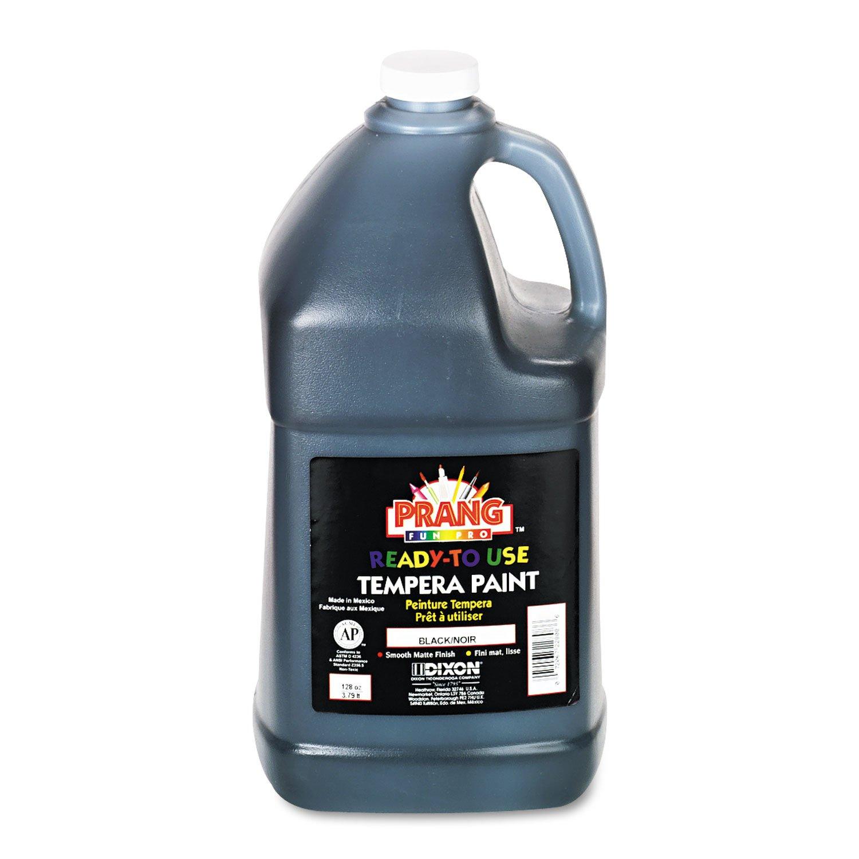 Prang Ready-to-Use Liquid Tempera Paint, 1 Gallon Bottle, Black (22808)
