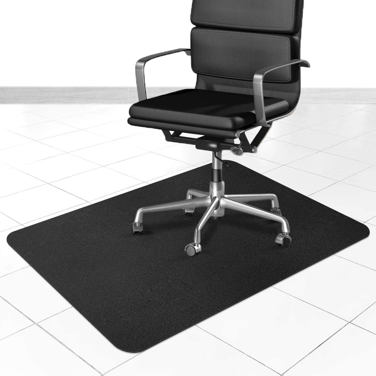 Office Chair Mat for Hardwood and Tile Floor, 36x48 inches Straight Edge Rectangular Sturdy Multi-Purpose Polyethylene + EVA Desk Chair Mat, Anti-Slip, Non-Toxic Plastic Protector