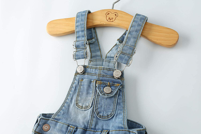 Kidscool Baby Adjustable Open Legs Light Blue Big Bibs Jeans Overalls