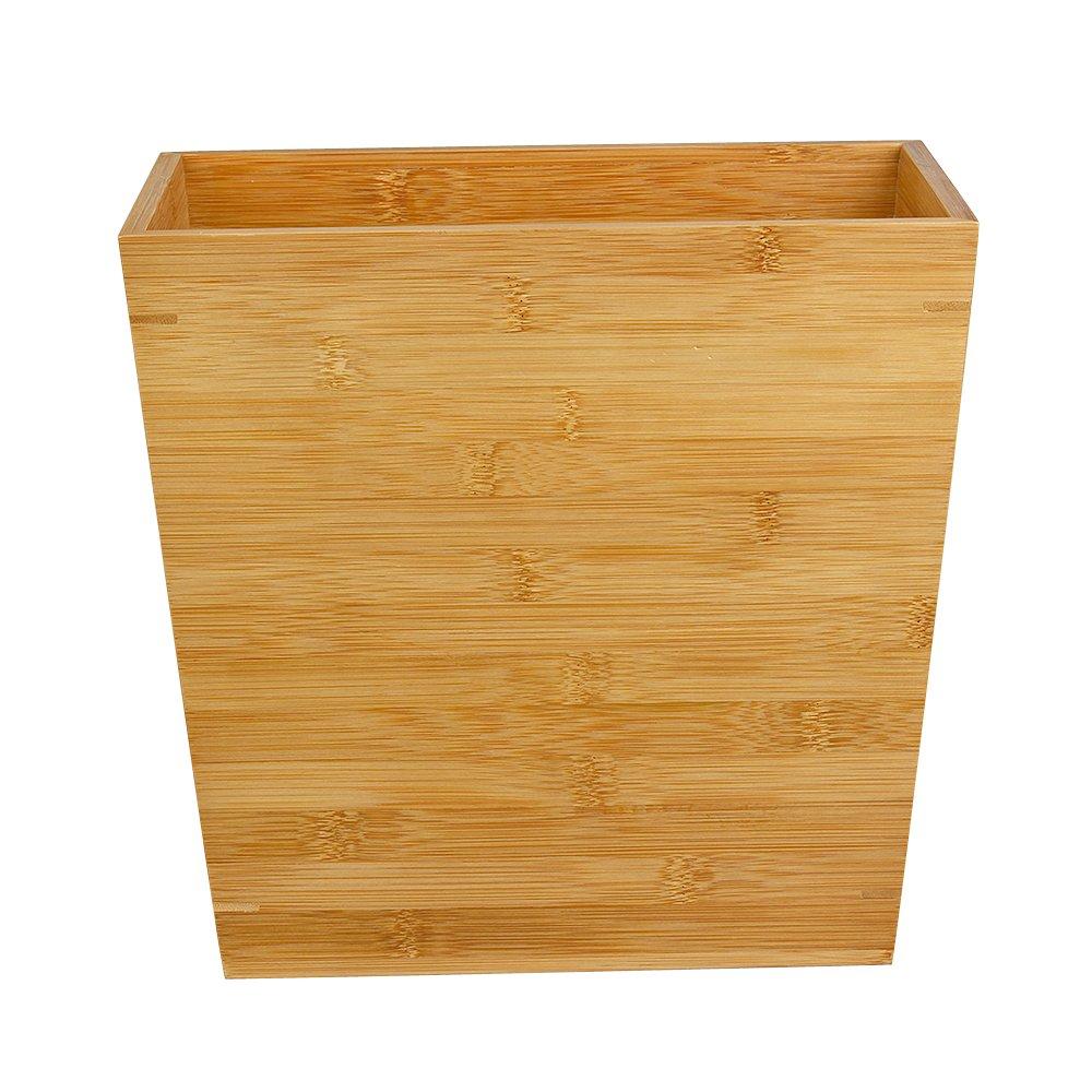 corbeille /à papier/en 100/% bambou naturel respectueux de lenvironnement Woodluv Slimline Poubelle en bambou