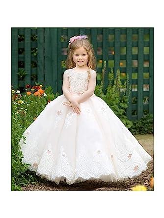 10dad91ead7 TriumphDress Little Girls Pink Crystal Detail Anastasia Flower Girl Dress  5 6