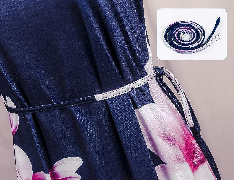 Tanst Sky Womens Sleeveless Adjustable Strappy Sundress Summer Beach Swing Dress