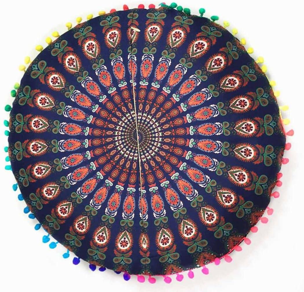 43*43cm, A Funda de coj/ín Indio mandalas piso almohadas redondas bohemio funda de almohadas By LMMVP