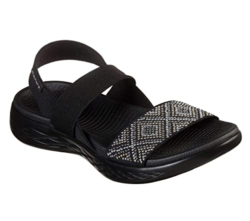 165cfa334b74 Image Unavailable. Image not available for. Color  Skechers Performance  Women s On The GO 600 Glitzy Sandals Black ...