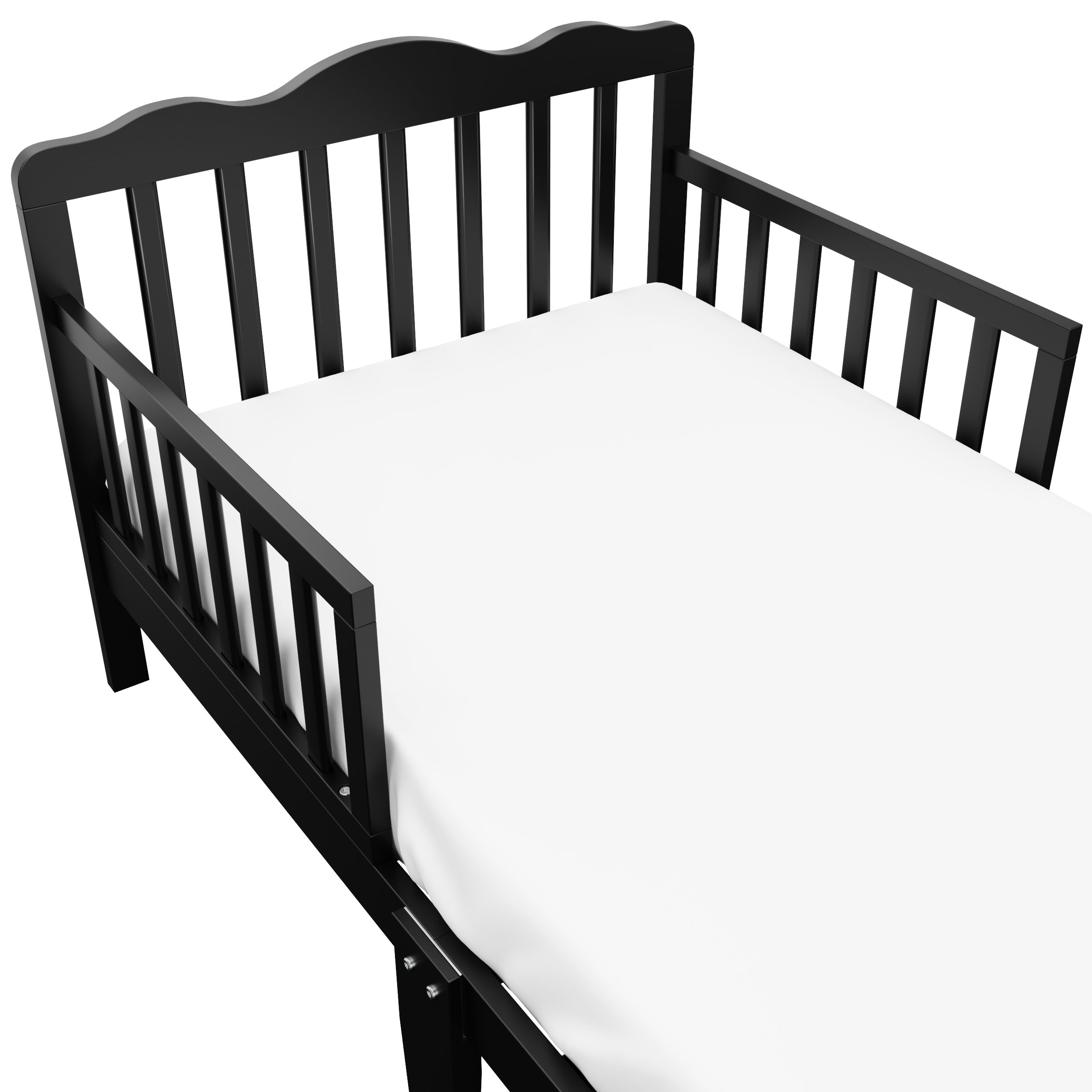 Storkcraft Hillside Toddler Bed Black, Fits Standard-Size Toddler Mattress (Not Included), Guardrails on Both Sides, Meets or Exceeds All Federal Safety Standards, Pine & Composite Construction by Stork Craft (Image #4)