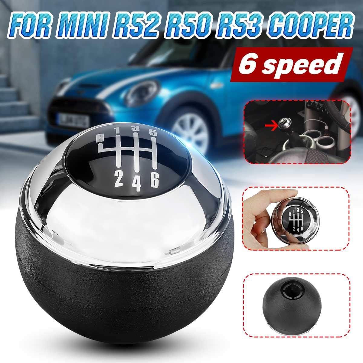 BYWWANG Per Mini R50 One D R52 R53 Cooper S 3 Porte 2001-2008 6 Marce per Auto MT Pomello del Cambio Palla in plastica Maniglia del Cambio
